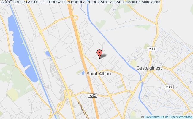 plan association Foyer Laique Et D'education Populaire De Saint-alban