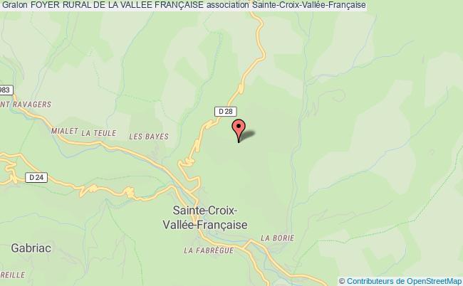 plan association Foyer Rural De La Vallee FranÇaise
