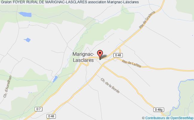 plan association Foyer Rural De Marignac-lasclares