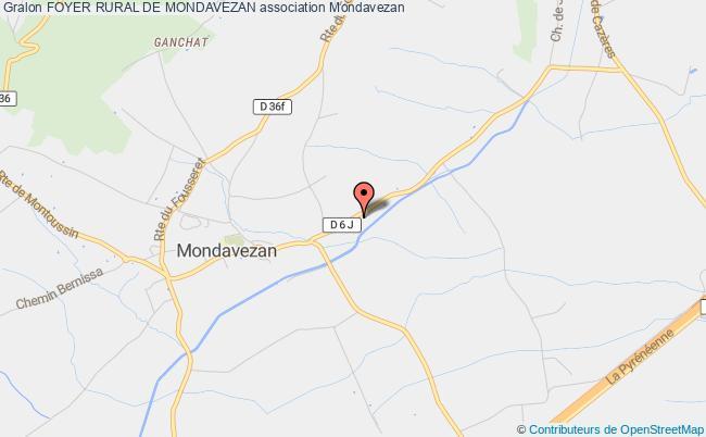 plan association Foyer Rural De Mondavezan