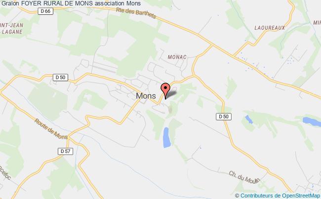 plan association Foyer Rural De Mons Mons