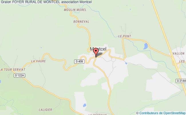 plan association Foyer Rural De Montcel