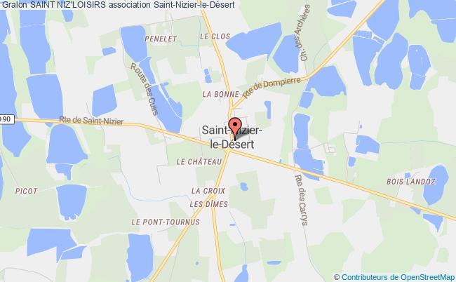 plan association Foyer Rural De Saint Nizier Le Desert