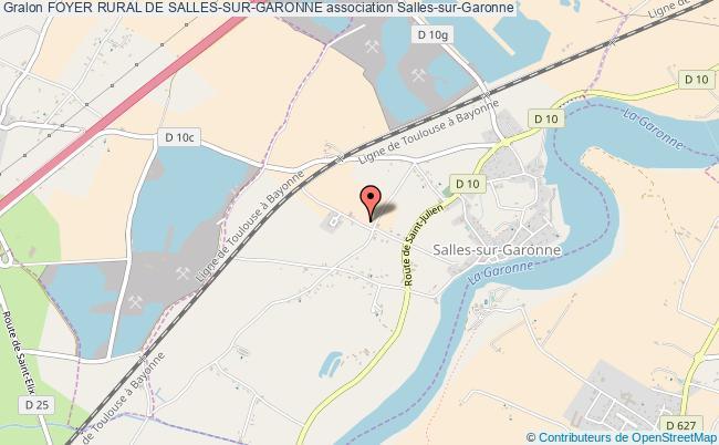 plan association Foyer Rural De Salles-sur-garonne