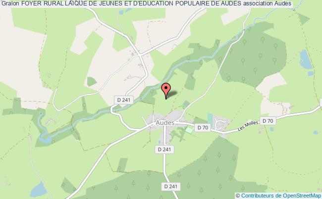 plan association Foyer Rural Laique De Jeunes Et D'education Populaire De Audes