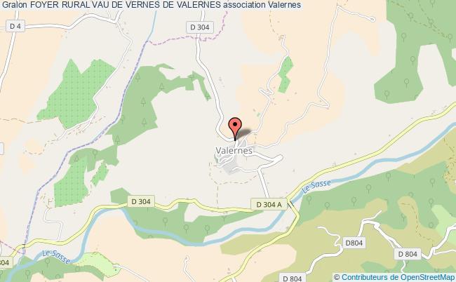 plan association Foyer Rural Vau De Vernes De Valernes