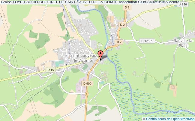 plan association Foyer Socio-culturel De Saint-sauveur-le-vicomte Saint-Sauveur-le-Vicomte