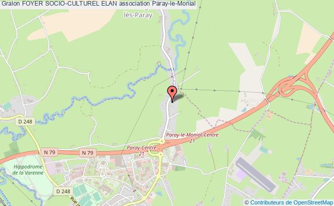 plan association Foyer Socio-culturel Elan Paray-le-Monial
