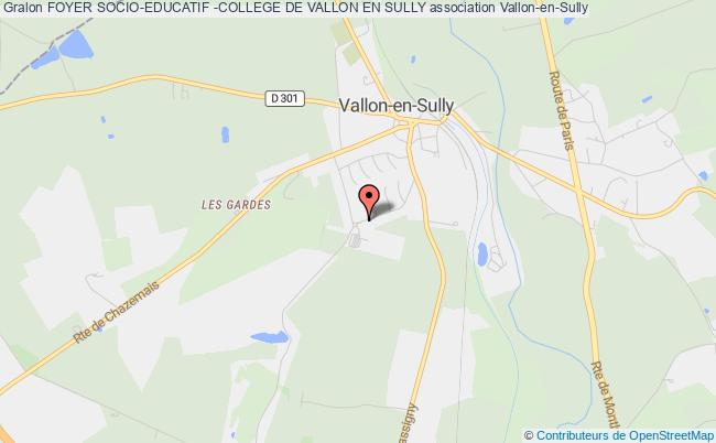 plan association Foyer Socio-educatif -college De Vallon En Sully Vallon-en-Sully