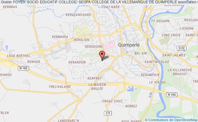 plan association Foyer Socio Educatif College/ Segpa College De La Villemarque De Quimperle