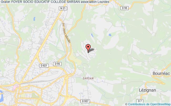 plan association Foyer Socio Educatif College Sarsan Lourdes
