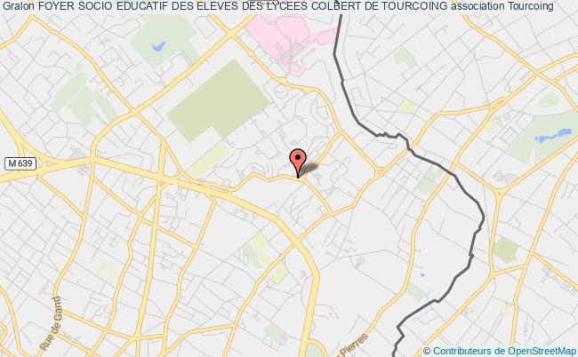 plan association Foyer Socio Educatif Des Eleves Des Lycees Colbert De Tourcoing Tourcoing