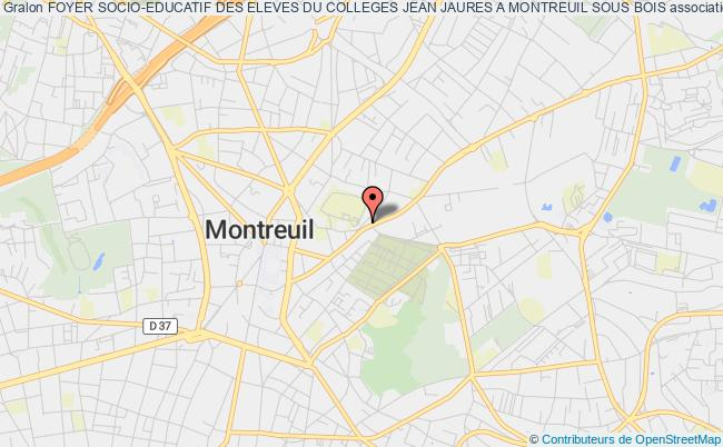 plan association Foyer Socio-educatif Des Eleves Du Colleges Jean Jaures A Montreuil Sous Bois