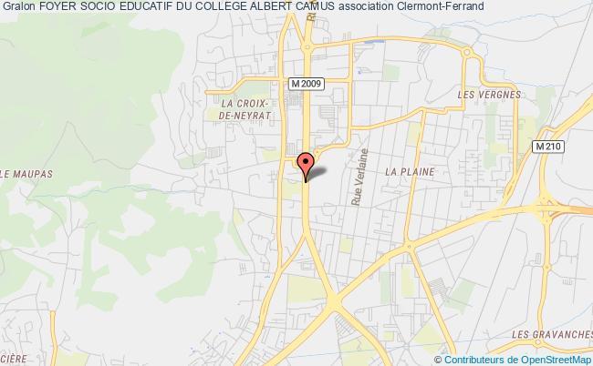 plan association Foyer Socio Educatif Du College Albert Camus