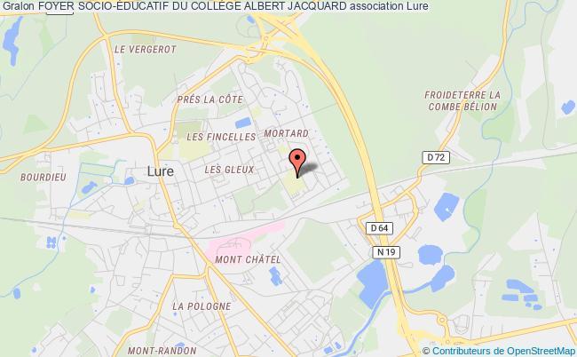 plan association Foyer Socio-Éducatif Du CollÈge Albert Jacquard