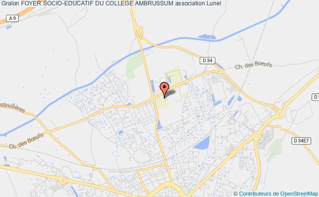 plan association Foyer Socio-educatif Du College Ambrussum
