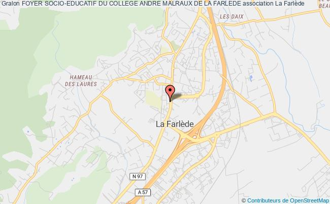 plan association Foyer Socio-educatif Du College Andre Malraux De La Farlede