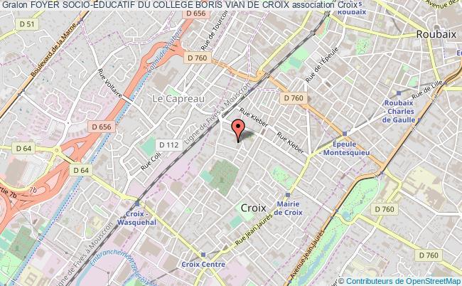 plan association Foyer Socio-educatif Du College Boris Vian De Croix