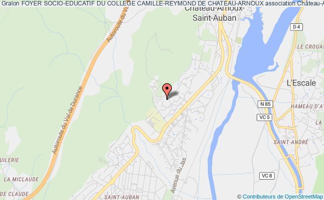 plan association Foyer Socio-educatif Du College Camille-reymond De Chateau-arnoux