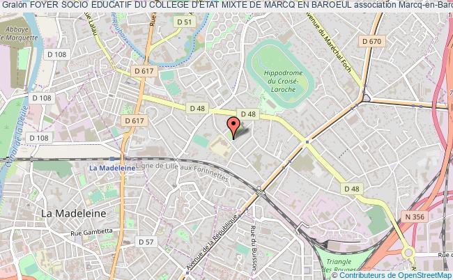 plan association Foyer Socio Educatif Du College D'etat Mixte De Marcq En Baroeul