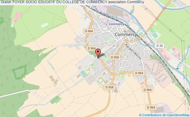 plan association Foyer Socio Educatif Du College De Commercy