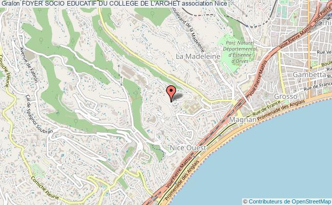 plan association Foyer Socio Educatif Du College De L'archet Nice