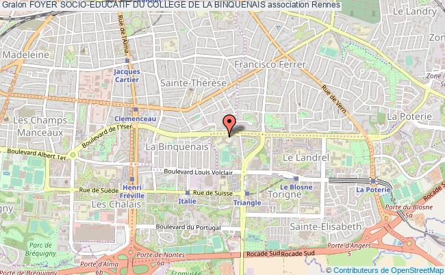 plan association Foyer Socio-educatif Du College De La Binquenais