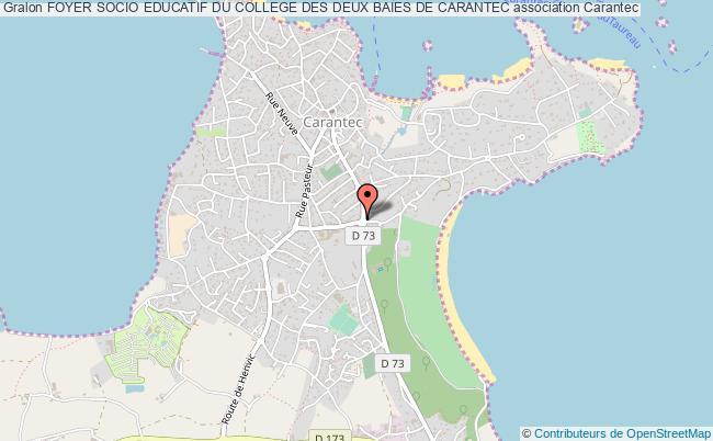 plan association Foyer Socio Educatif Du College Des Deux Baies De Carantec Carantec