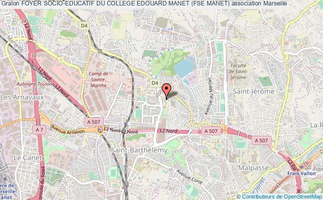 plan association Foyer Socio-educatif Du College Edouard Manet (fse Manet) Marseille