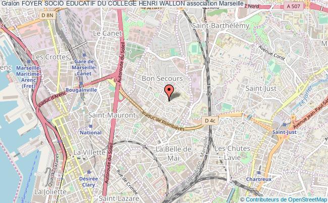 plan association Foyer Socio Educatif Du College Henri Wallon Marseille
