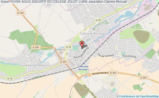 plan association Foyer Socio Educatif Du College Joliot Curie