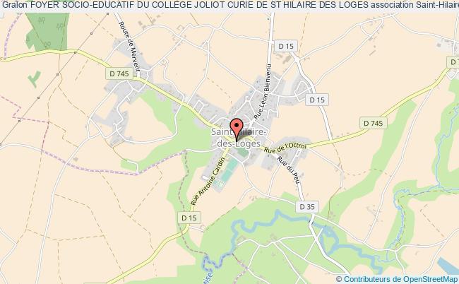 plan association Foyer Socio-educatif Du College Joliot Curie De St Hilaire Des Loges