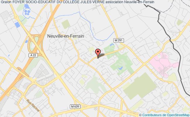 plan association Foyer Socio-educatif Du College Jules Verne Neuville-en-Ferrain