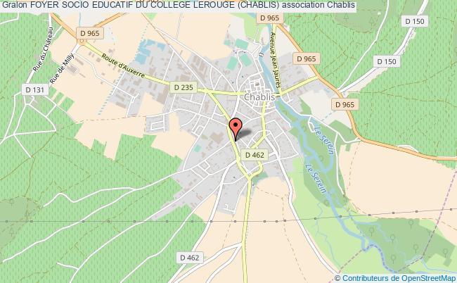 plan association Foyer Socio Educatif Du College Lerouge (chablis)