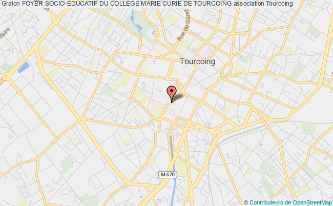 plan association Foyer Socio-educatif Du College Marie Curie De Tourcoing