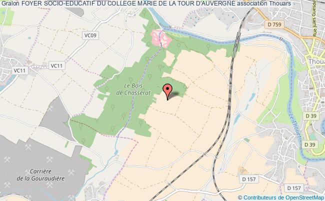 plan association Foyer Socio-educatif Du College Marie De La Tour D'auvergne