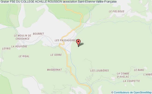 plan association Foyer Socio-educatif Du College Nationalise Mixte De Saint Etienne Vallee Francaise