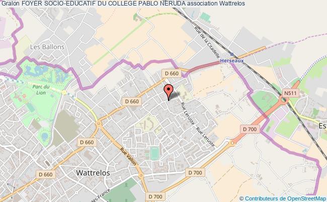 plan association Foyer Socio-educatif Du College Pablo Neruda