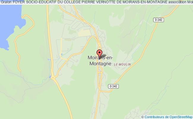 plan association Foyer Socio-educatif Du College Pierre Vernotte De Moirans-en-montagne
