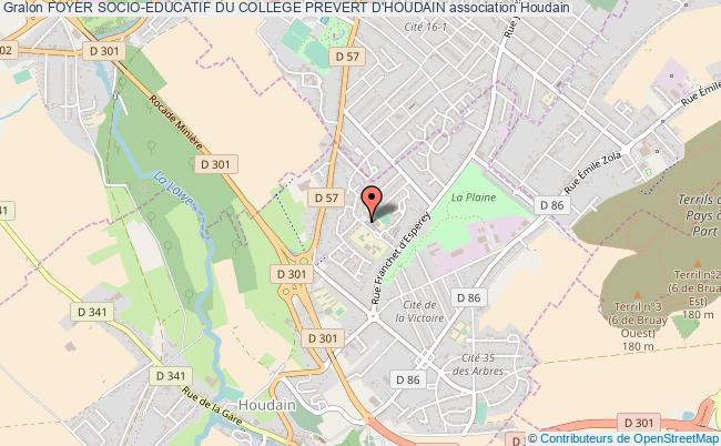 plan association Foyer Socio-educatif Du College Prevert D'houdain