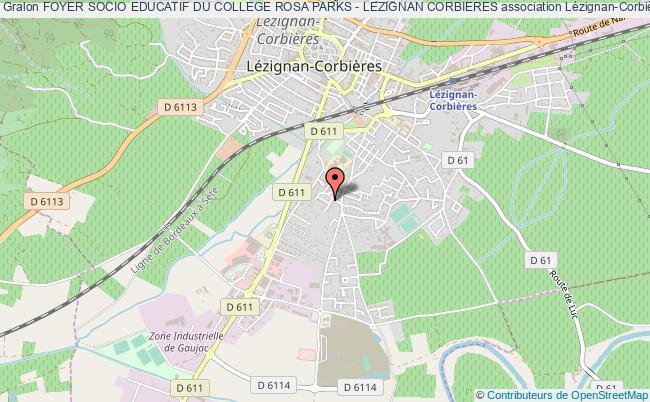 plan association Foyer Socio Educatif Du College Rosa Parks - Lezignan Corbieres Lézignan-Corbières