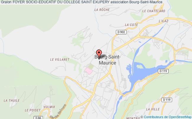 plan association Foyer Socio-educatif Du College Saint Exupery