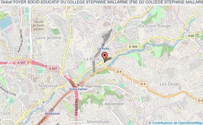 plan association Foyer Socio-educatif Du College Stephane Mallarme (fse Du College Stephane Mallarme) Marseille