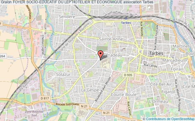 plan association Foyer Socio-educatif Du Lep Hotelier Et Economique Tarbes