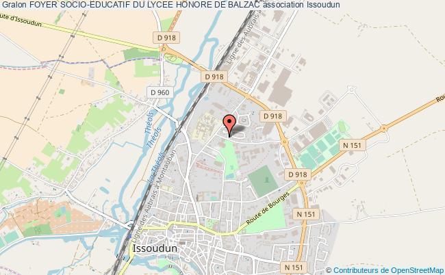 plan association Foyer Socio-educatif Du Lycee Honore De Balzac Issoudun