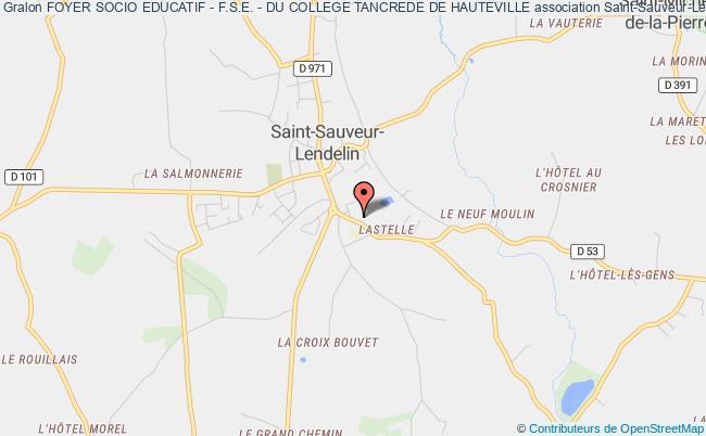 plan association Foyer Socio Educatif - F.s.e. - Du College Tancrede De Hauteville Saint-Sauveur-Lendelin