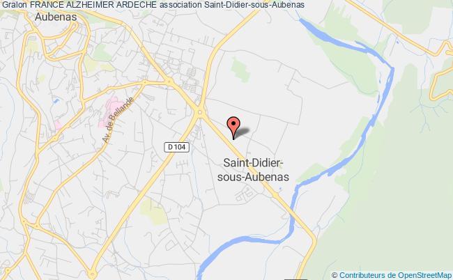 plan association France Alzheimer Ardeche