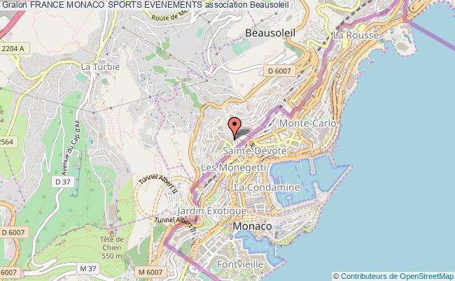 plan association France Monaco Sports Evenements