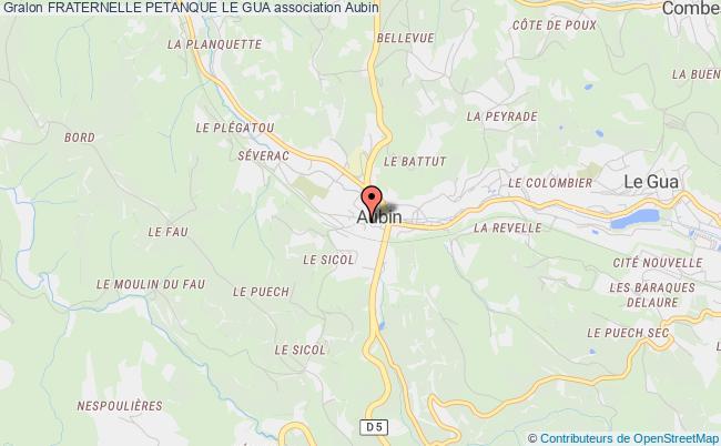 plan association Fraternelle Petanque Le Gua