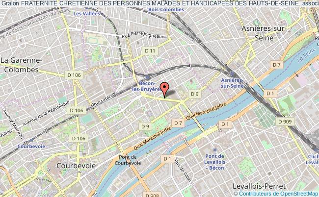 plan association Fraternite Chretienne Des Personnes Malades Et Handicapees Des Hauts-de-seine. Courbevoie